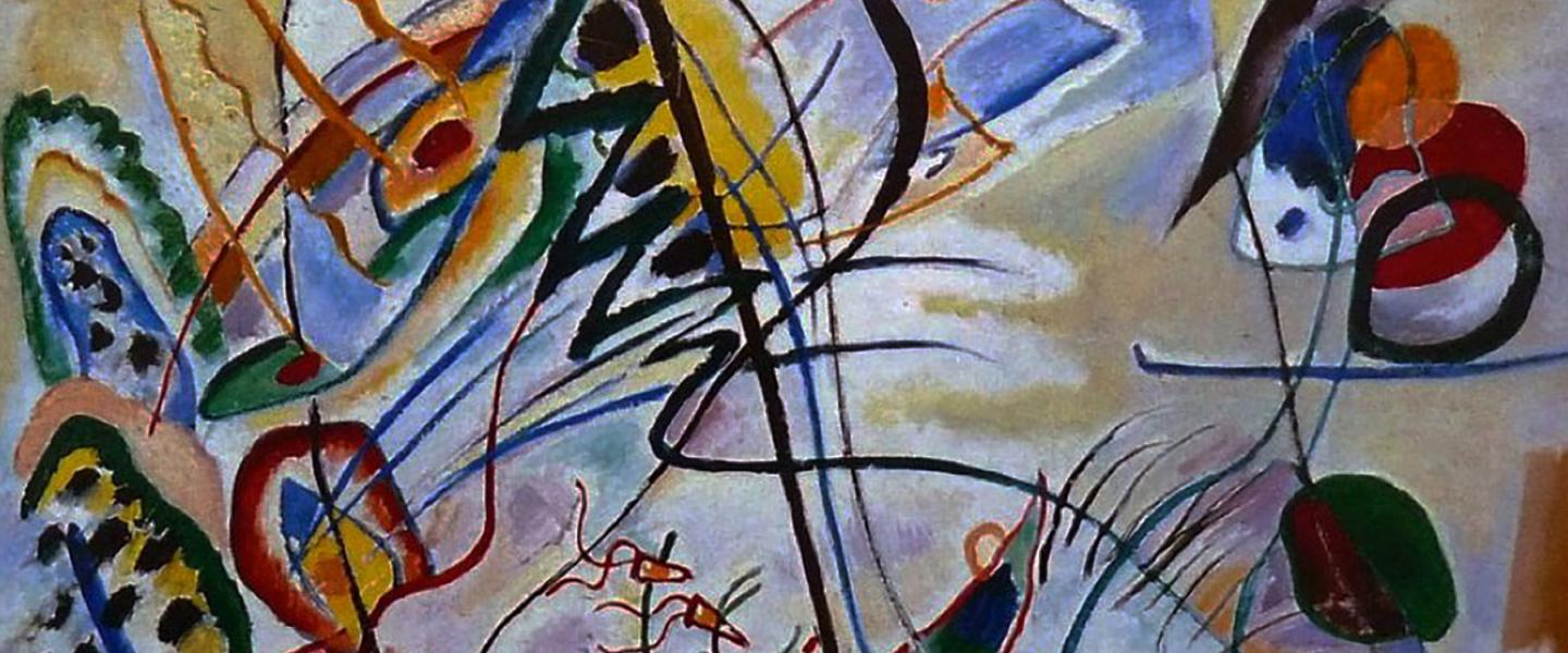 Musical Overture Violet Wedge by Wassily Kandinsky