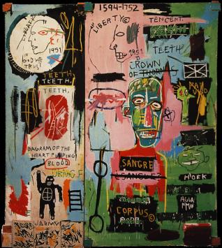 "image of ""In Italian"" by Basquiat"