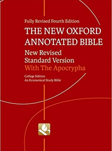 Book cover art for New Oxford Annotated Bible with Apocrypha by Various Authors