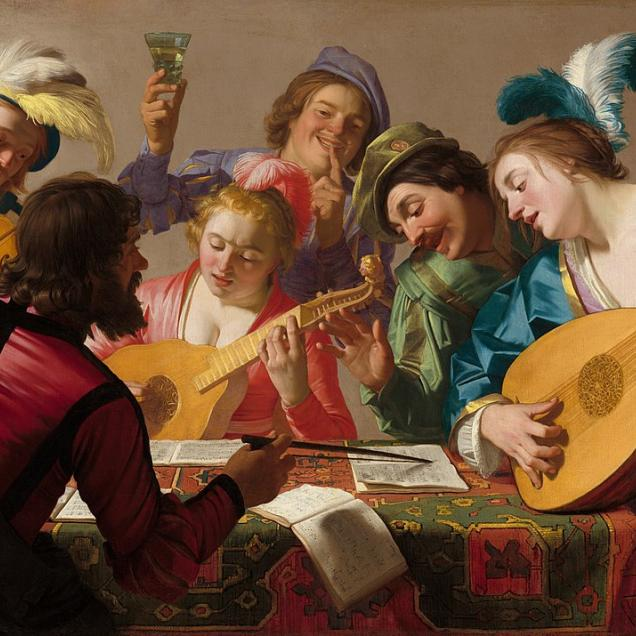 An image of the painting titled The Concert
