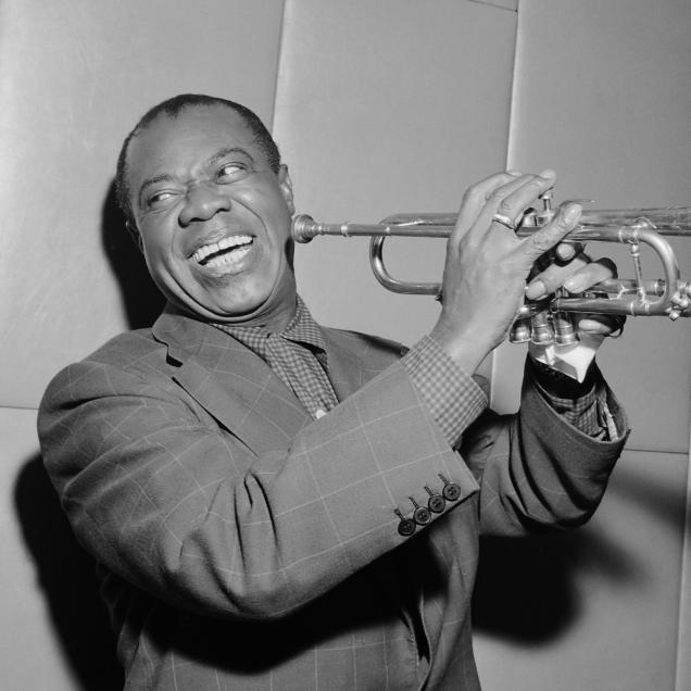 Cover art for Jazz (Louis Armstrong) as part of the Music Humanities syllabus